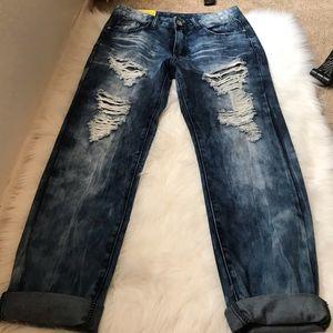 Machine Distressed  Boyfriend Jeans